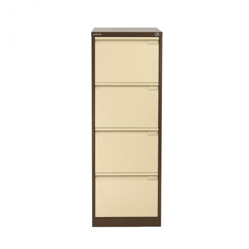 Bisley Filing Cabinet 4 Drawer 470x622x1321mm Coffee & Cream Ref 1643-av5av6