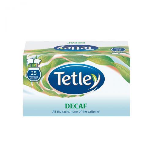 Tetley Individually Enveloped Tea Bags Decaffeinated Drawstring in Envelope Ref 1285 [Pack 25]