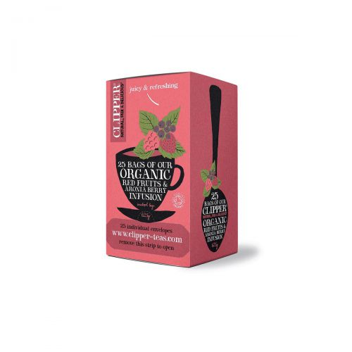 Clipper Organic Red Fruits & Aronia Tea Ref 0403266 [Pack 25]