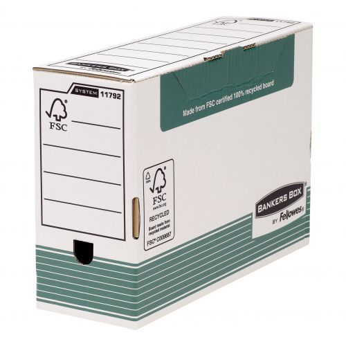 Fellowes FSC Bkr/Bx Green Transfer File