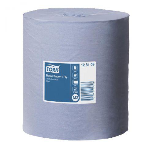Tork FSC Universal Centrefeed Hand Towel Rolls Single Ply 194mmx300m Blue Ref 128109 [Pack 6]