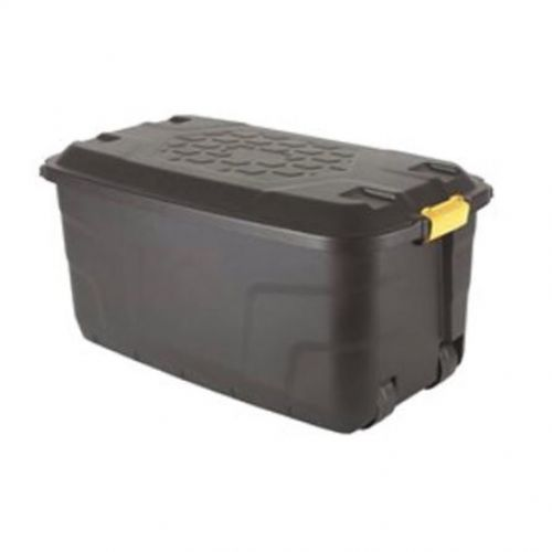 Strata Storage Trunk with Lid and Wheels 145 Litres W960xD560xH460 Black Ref HW440