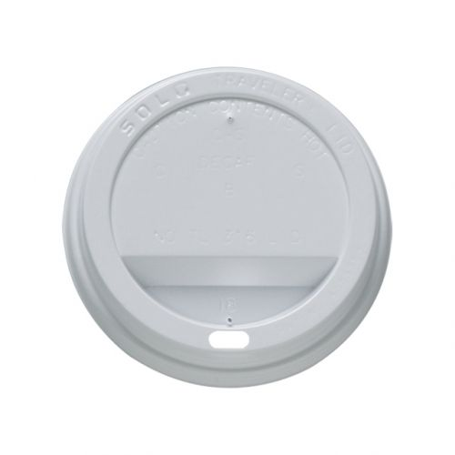 Disposable Sip Thru Lids For Use With 12oz 350ml Ripple Cups White Ref 0511055 [Pack 1000]