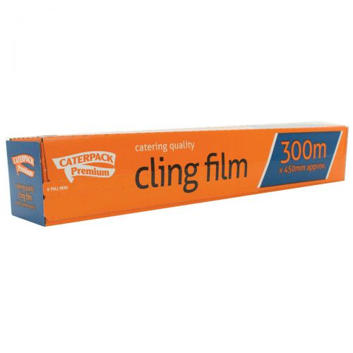 Caterpack Cling Film Antibacterial 450mm x 300m Ref 0163