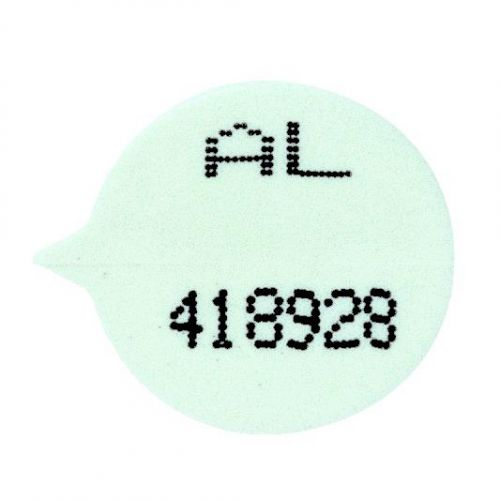 Numbered Round Security Seals White [Pack 500]