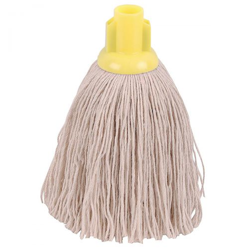 Robert Scott & Sons Twine Socket Mop for Rough Surfaces 12oz Yellow Ref 101852YELLOW [Pack 10]