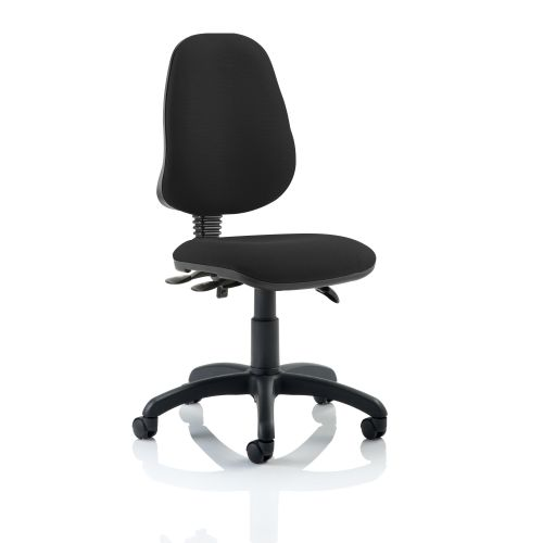 Trexus 3 Lever High Back Asynchronous Chair Black 480x450x490-590mm Ref OP000031