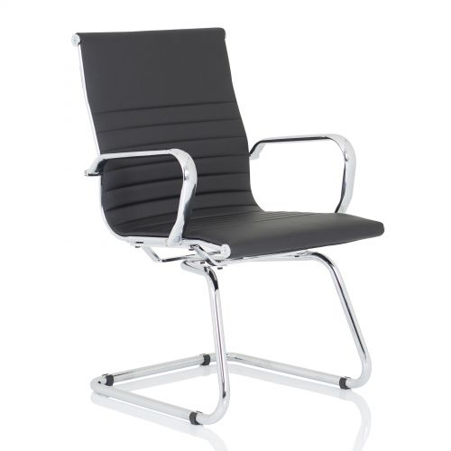 Trexus Nola Cantilever Chair Bonded Leather Black Ref OP000224