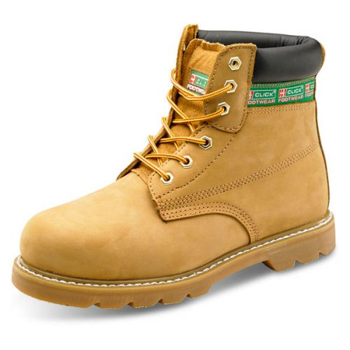 cef61dfe598 Click Footwear Goodyear Welted 6in Boot Leather Size 10 Nubuck Ref GWBNB10  *Up to 3 Day Leadtime*