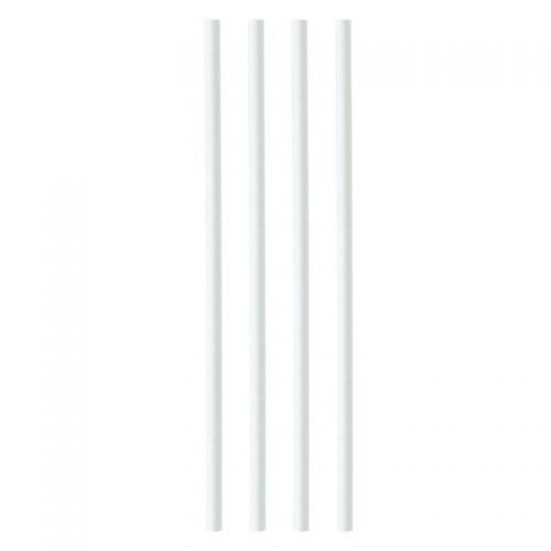 Paper Straws 8mmx200mm White [Pack 250]