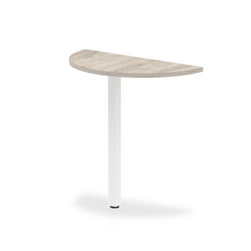 Trexus Conference Table Extension D End 800mm Grey Oak Ref I003266