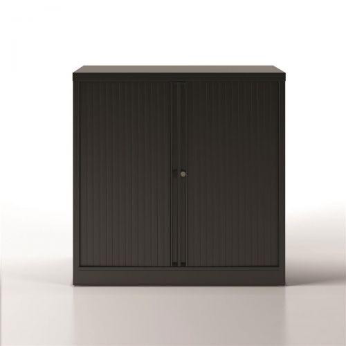 Trexus by Bisley Side Opening Tambour Door Cupboard 1000x470x1000-1015mm Black/Black Ref YETB1010.5-av1