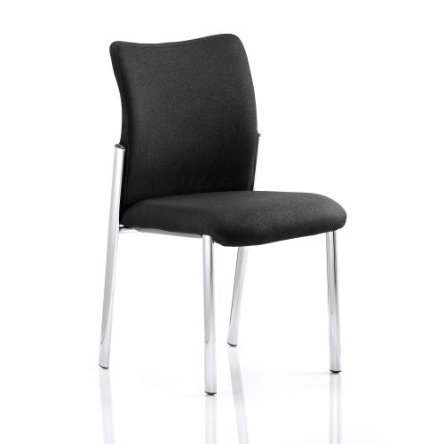 Sonix Academy Visitor Chair Without Fabric Back Arms Black Ref BR000004