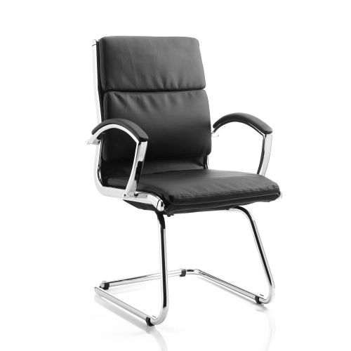 Adroit Classic Cantilever Chair With Arms Black Ref BR000030