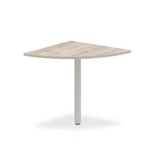 Trexus Conference Table Extension Quarter End 800mm Grey Oak Ref I003267