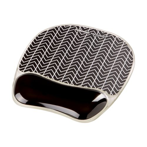 Fellowes PhotoGel Self Adjusting Mousepad Wrist Support Chevron Ref 9653401
