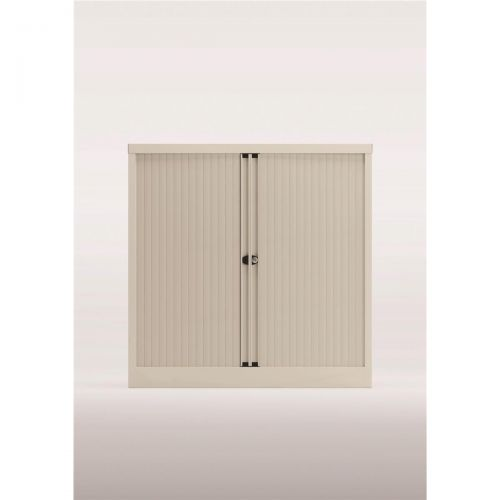 Trexus by Bisley Side Opening Tambour Door Cupboard 1000x470x1000-1015mm White/White Ref YETB1010.EW-ab9