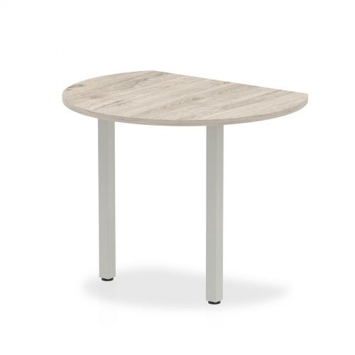 Trexus Conference Table Extension Radial End 1000mm Grey Oak Ref I003268