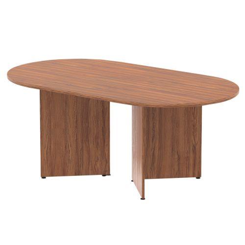 Trexus Boardroom Table 1800x1200x730mm Arrowhead Walnut Ref MI002929
