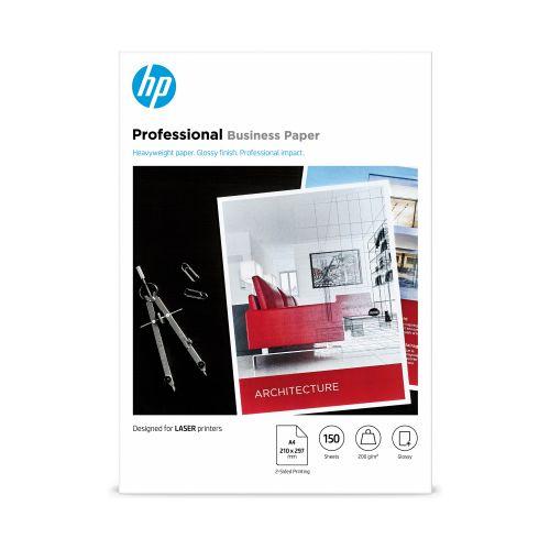 Hewlett Packard Laser Professional Photo Paper Gloss A4 200gsm Ref 7MV83A [150 sheets]