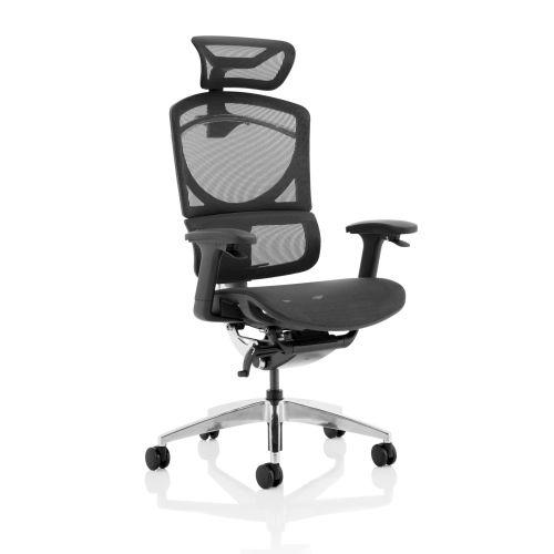 Trexus Ergo Click Plus Mesh Headrest Black Ref PO000063