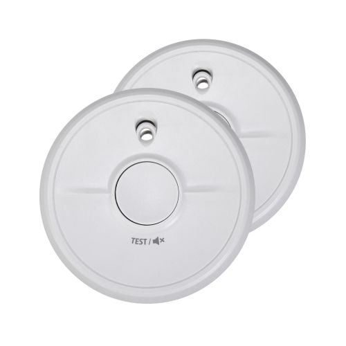Fire Angel General Use Smoke Alarm with Silencer Button White Ref FT0013 [Pack 2]