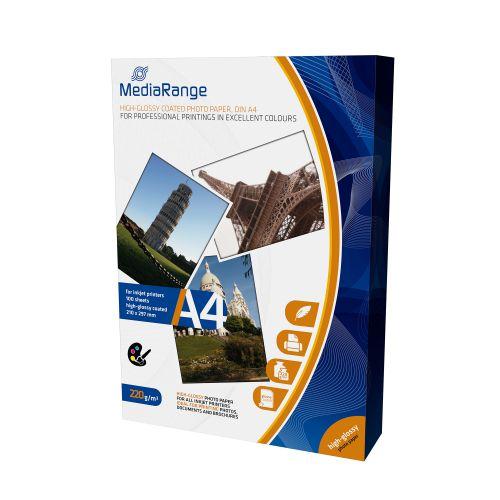 MediaRange InkJet Photo Paper A4 Gloss 220gsm Ref MRINK103 [100 Sheets]