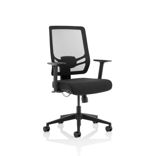 Trexus Ergo Twist Fabric Seat Mesh Back Black Ref OP000252