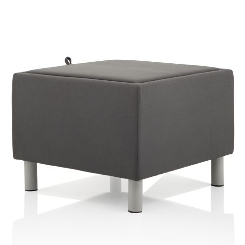 Trexus Melia Footstool With Melamine Top Fabric Grey Ref BR000217