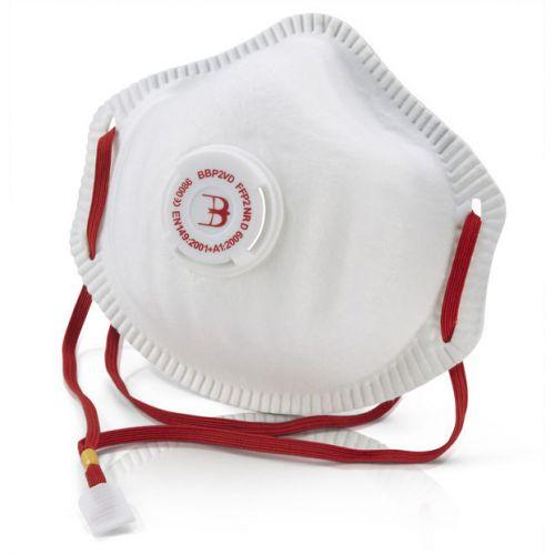 B-Brand P2 Premium Vented Mask Soft Foam Nose Seal White Ref BBP2VD