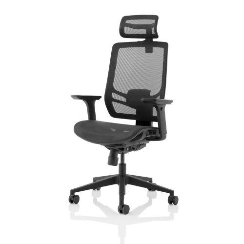 Trexus Ergo Twist Mesh Seat Mesh Back Headrest Black Ref KC0299