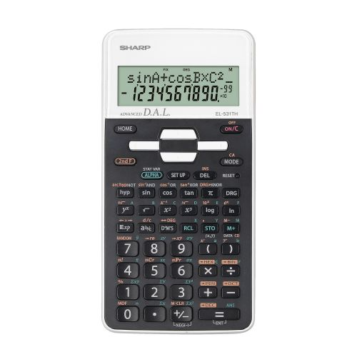 Sharp Scientific EL-W531 Calculator 335 Functions White Ref SH-EL531THBWH