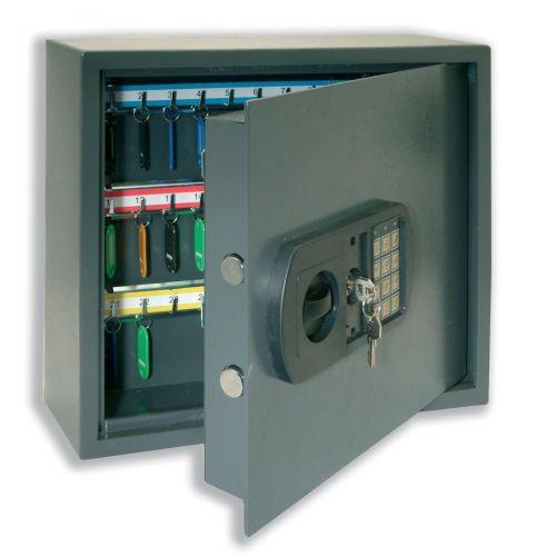 High Security Key Safe Electronic Key Pad and 30mm Double Bolt Locking 30 Keys