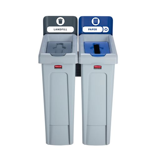 Slim Jim Recycling Station 2 Stream 609x546x1022mm Ref 2057610