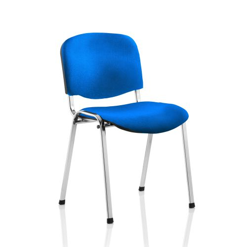 Trexus Stacking Chair Chrome Frame Blue 470x420x500mm Ref BR000068