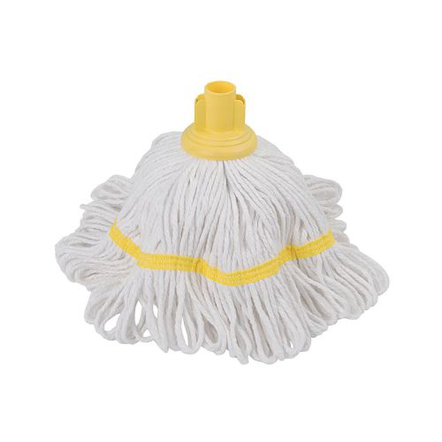 Robert Scott & Sons Hygiemix T1 Socket Cotton & Synthetic Colour-coded Mop 250g Yellow Ref MHH250Y