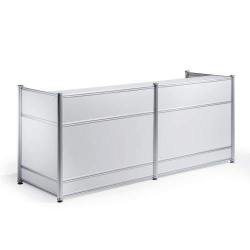 Trexus Reception Desk 2485x1030x25mm High Gloss White Ref I000736