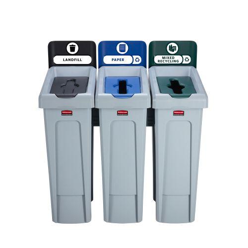 Slim Jim Recycling Station 3 Stream 914x546x1022mm Ref 2057606