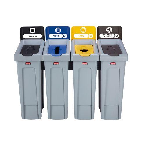 Slim Jim Recycling Station 4 Stream 1219x546x1022mm Ref 2057608