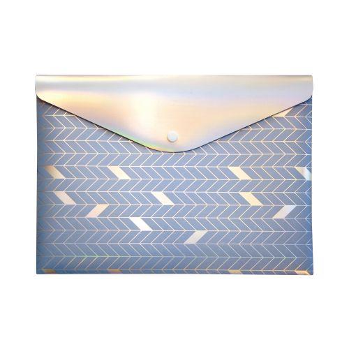 Pukka GLEE Document Wallet Popper PP W323xD36xH237mm Light Blue Ref 8703 GLE LE [Pack 12]