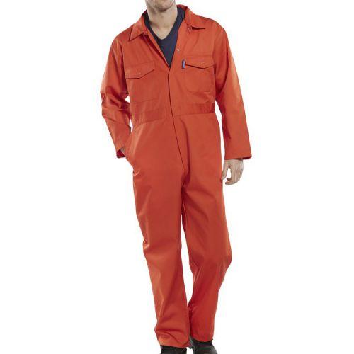 "Click Workwear Boilersuit Orange Size 42/"" PCBSOR42"