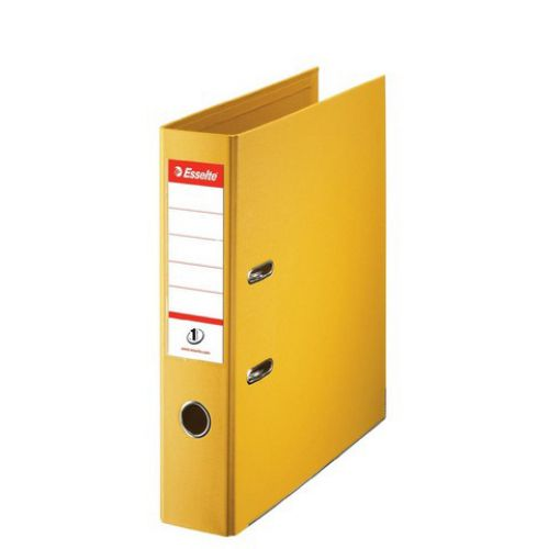 Esselte No. 1 Lever Arch File PP Slotted 75mm Spine A4 Yellow Ref 811310
