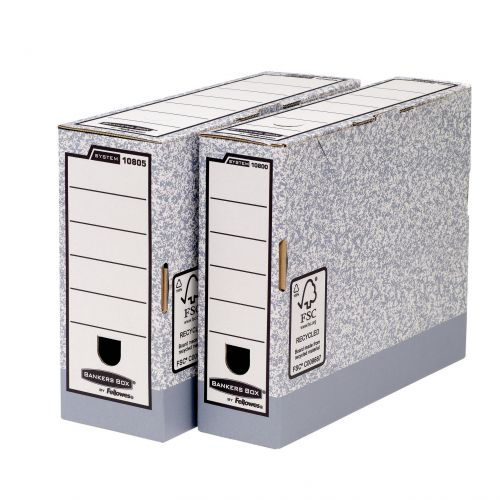 Fellowes Bankers Box Transfer File 80mm Grey/White Ref 1180001 [Pack 10]