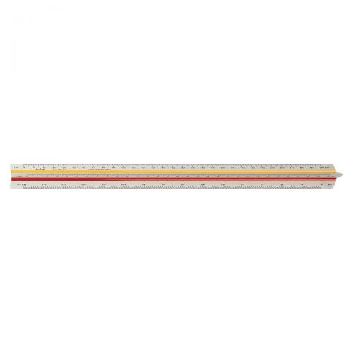 Rotring Ruler Triangular Reduction Scale 4 Architect 1:10 to 1:500 with 2 Colour