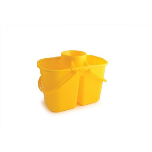 Duo Mop Bucket Colour Coded 7 And 8 Litre Sections Total 15 Yellow