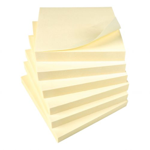 Super Saver Yellow Sticky Notes 76x76mm 100 Sheets per Pad
