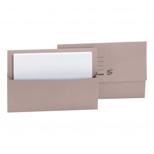 5 Star Document Wallet Fcap 250gm Buff
