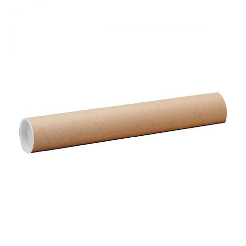 Postal Tube Cardboard with Plastic End Caps A2 L450xDia.50mm RBL10519  [Pack 25]