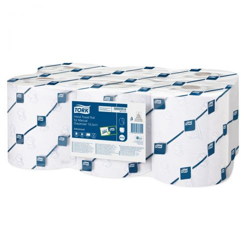 Tork Hand Towel For Manual Dispenser 640 Sheet Roll 161m Two-ply White Ref 471141 [Packed 6]