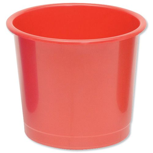 5 Star Office Waste Bin Polypropylene 14 Litre Capacity 304x254mm Red